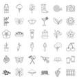 clover icons set outline style vector image vector image