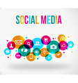 colorful social network icon vector image vector image