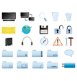 computer icons set web20 vector image vector image