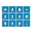 Condom and contraception icons on blue background vector image vector image