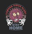 corona virus monster covid-19 artwork vector image