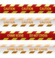 crime scene tape vector image vector image