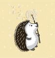 cute hedgehog vector image vector image
