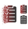 damaged dotted halftone todo list icon vector image vector image