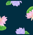 dark blue background with watercolor lotus vector image