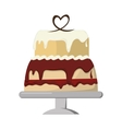 decorated cake icon vector image