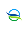 eco water nature abstract logo vector image