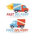 Fast Free Delivery Symbol Shipping Truck Icon vector image