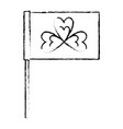 flag with clover decoration traditional symbol vector image vector image