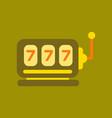 flat icon on background poker slot machine vector image vector image