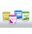 four cans of paint vector image vector image