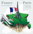 France country infographic map in 3d vector image