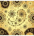 Gold and brown seamless pattern vector image vector image