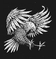 hand drawn bold linework swooping tattoo eagle vector image