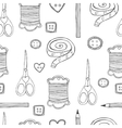 hand drawn sewing seamless pattern vector image vector image