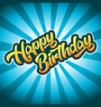 happy birthday anniversary greeting card vector image