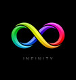 Infinity symbol limitless bright multicolor sign vector image