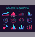 infographic charts and diagrams vector image vector image