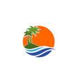 island logo icon design icon concept vector image vector image