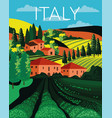 italian country landscape in rolling hills vector image