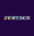 justice concept word art vector image
