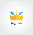 king food with little star and crown logo icon vector image