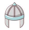 knight helmet guard icon cartoon style vector image vector image