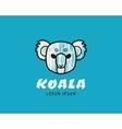 Koala head logotype vector image