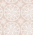 Lace fabric seamless pattern with white flowers on vector image vector image