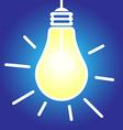 Lightbulb lit vector image