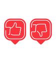 like and dislike icon vector image