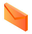 mail letter icon isometric style vector image vector image