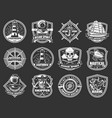 marine adventure ocean spirit nautical icons vector image vector image