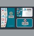 marine nautical travel corporate identity design vector image