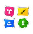 medicine icons syringe life radiation vector image