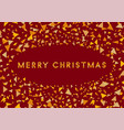 merry christmas colorful cover festive frame vector image