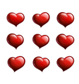 Nine Red Hearts vector image vector image