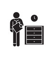 office archive archiver black concept icon vector image vector image