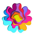paper cut flower shape 3d design vector image vector image