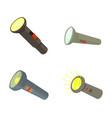 pocket light icon set cartoon style vector image vector image