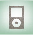 portable music device brown flax icon on vector image vector image