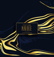 premium black and golden marble texture background vector image vector image