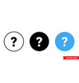 question mark icon 3 types isolated vector image vector image
