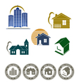 real estate emblem and stamp vector image vector image