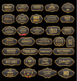 retro vintage gold and gray sale frames collection vector image vector image