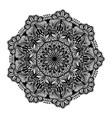 round black mandala on white isolated white vector image