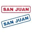 San Juan Rubber Stamps vector image vector image