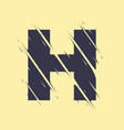 scribbled letter h vector image vector image