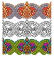 Seamless decorative border in the Indian style vector image vector image