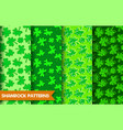 seamless shamrock patterns vector image